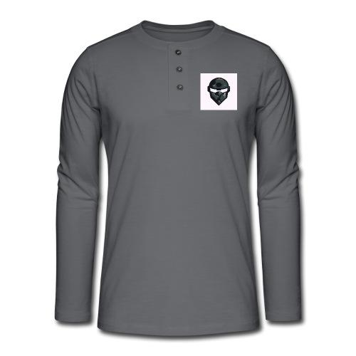 Mainlogo - Henley T-shirt med lange ærmer