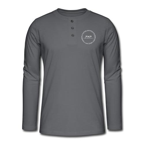 white logo transparent 2x - Henley long-sleeved shirt