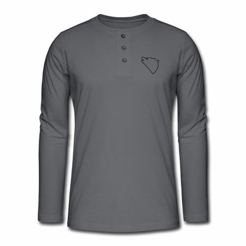 Wolf baul logo - Henley shirt met lange mouwen