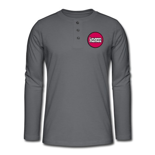Logo LeuvenMemes - T-shirt manches longues Henley