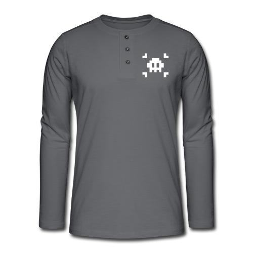 Mug Pixel Skull - T-shirt manches longues Henley