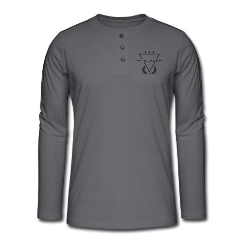 NEW TRIPLE LOGO Design 1 - Henley long-sleeved shirt