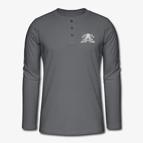 Strommast weiß - Henley Langarmshirt