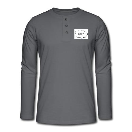 okay_2-jpg - Henley shirt met lange mouwen