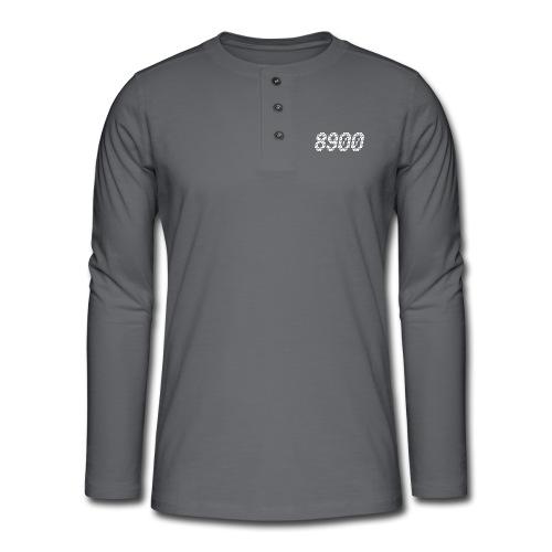 8900 Randers - Henley T-shirt med lange ærmer