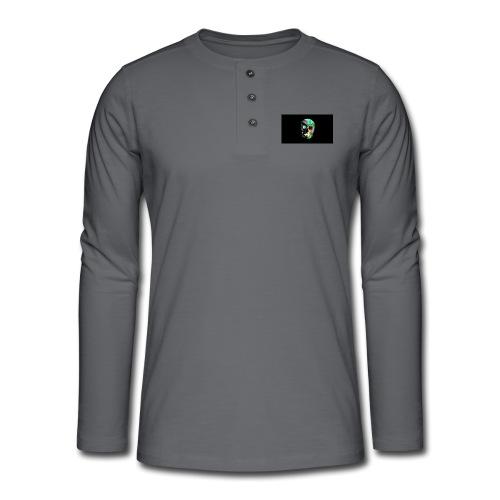 skeleton official logo - Henley long-sleeved shirt