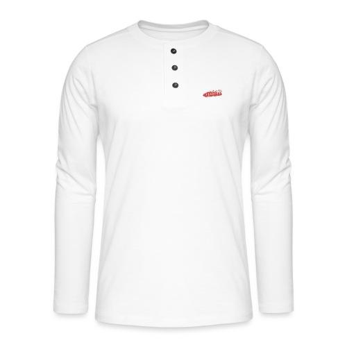 Blacklist Records - T-Shirt (Logo Blanc) - T-shirt manches longues Henley
