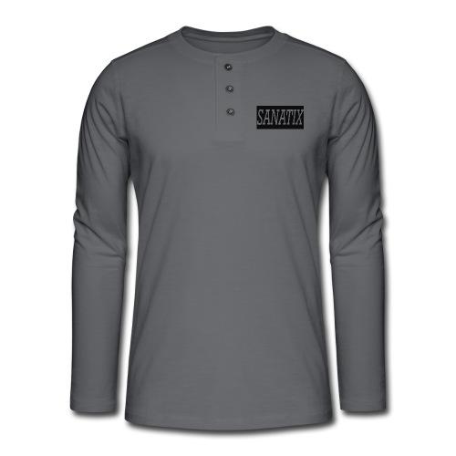 Sanatix logo merch - Henley long-sleeved shirt