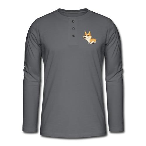 corgi - Henley T-shirt med lange ærmer