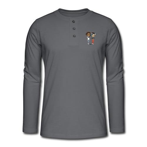 Maya & Noa - Henley T-shirt med lange ærmer