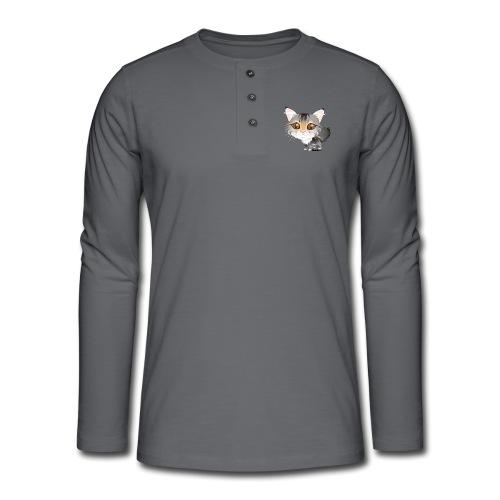 Katze - Henley Langarmshirt