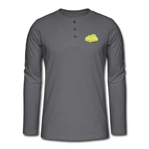 Momio logo - Henley T-shirt med lange ærmer