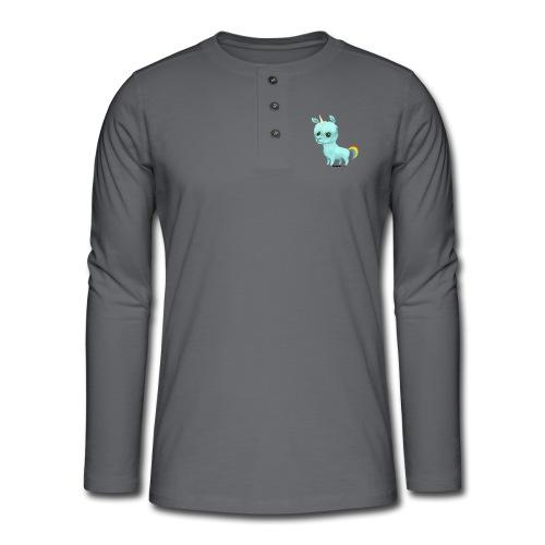 Llamacorn - Henley T-shirt med lange ærmer