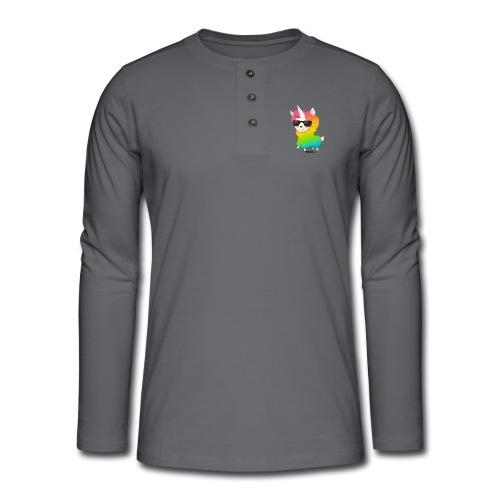 Regenbogenanimation - Henley Langarmshirt