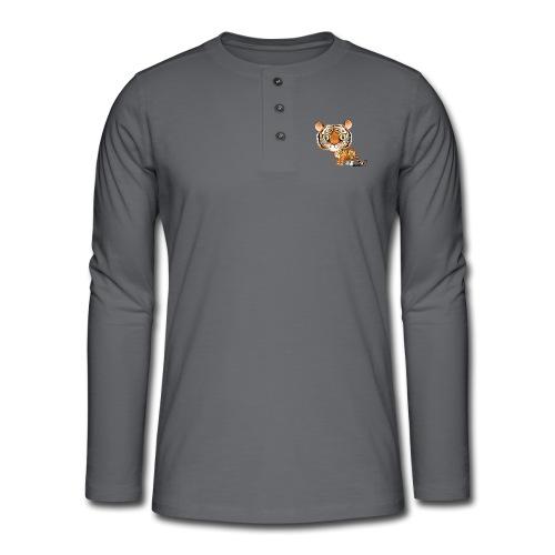Tiger - Henley T-shirt med lange ærmer