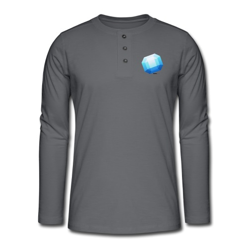 Safir - Henley T-shirt med lange ærmer