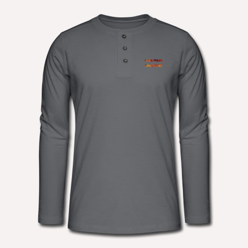 Less Meat Less Heat Climate Action Apparel Print - Henley long-sleeved shirt