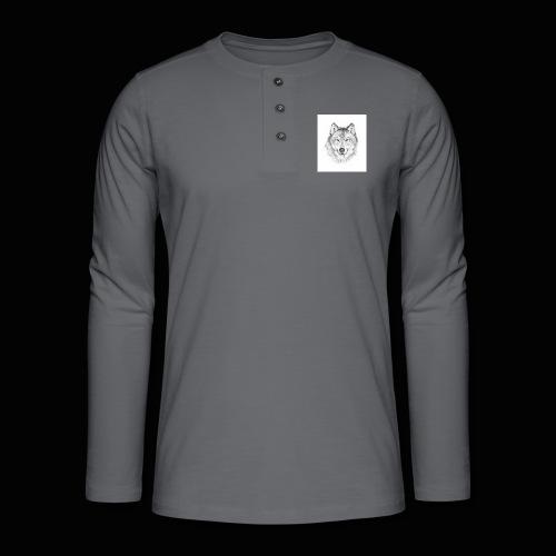 Wolf - Henley T-shirt med lange ærmer