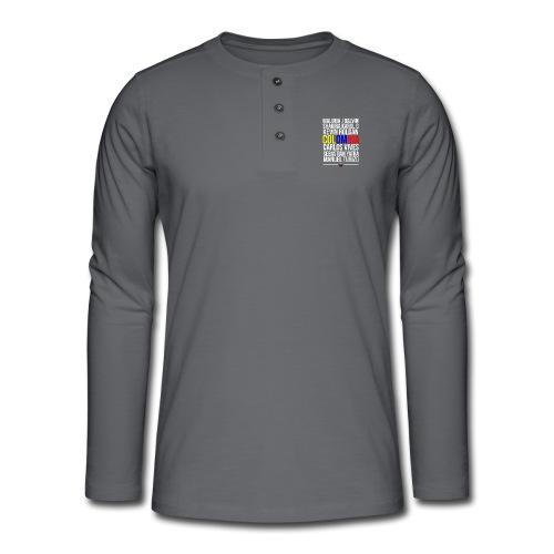 Reggaeton Shirt Kolumbien - Henley Langarmshirt