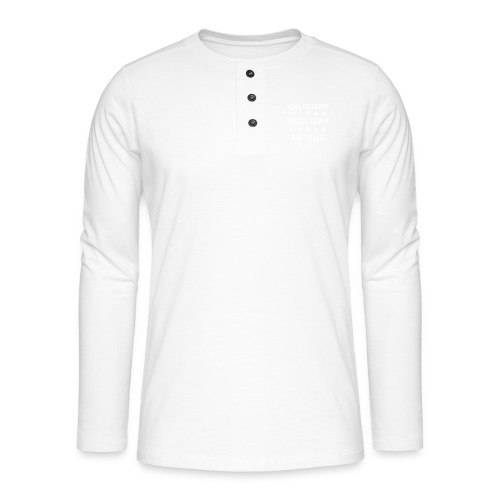 Jesus follower Beagle lover nap taker - Henley long-sleeved shirt