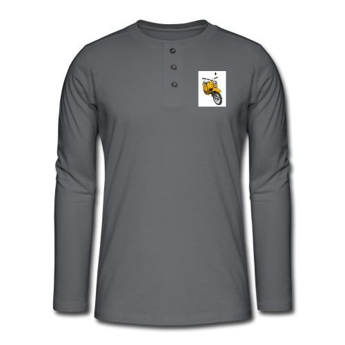 Die Schwalbenfahrer-Tasse (gelb) - Henley Langarmshirt