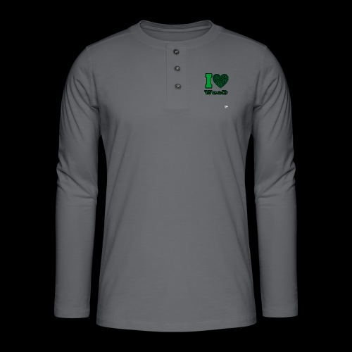 I Love weed - T-shirt manches longues Henley