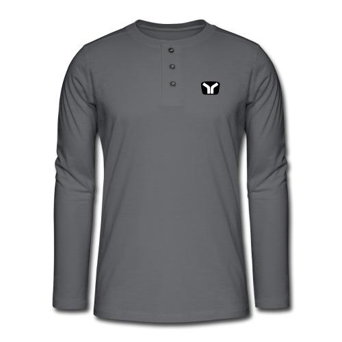Yugo Logo Black-White Design - Henley long-sleeved shirt