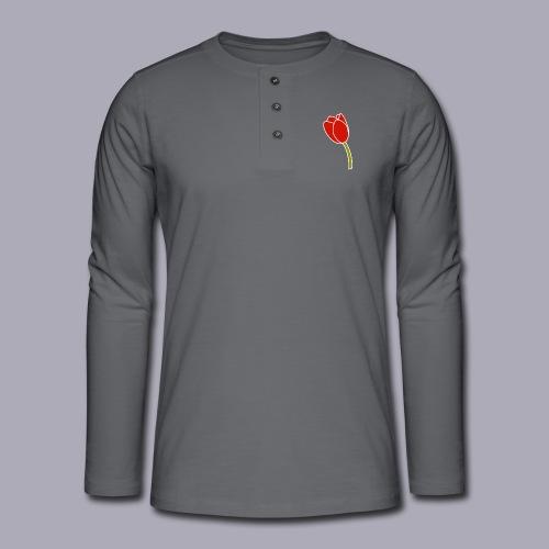 Tulip Logo Design - Henley long-sleeved shirt