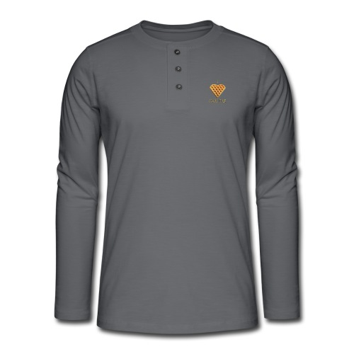 i love gaufre - T-shirt manches longues Henley