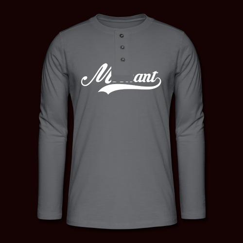 mechant_logo_white - T-shirt manches longues Henley