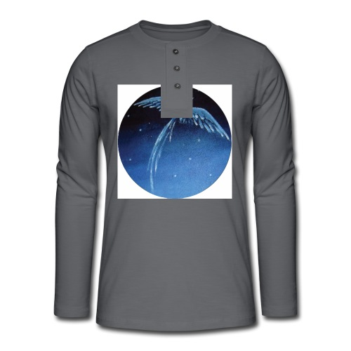 Oiseau Bleu 1 - T-shirt manches longues Henley