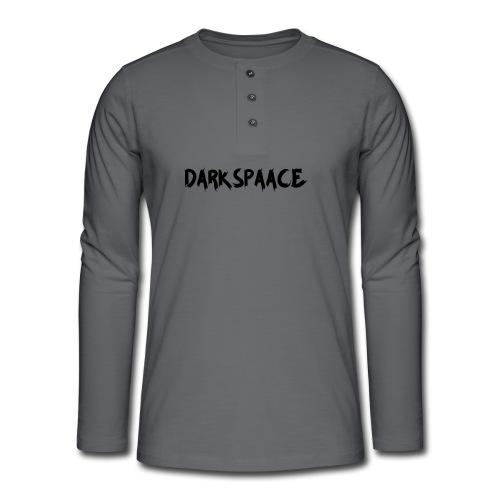 Habits & Accésoire - DarkSpaace Noir - T-shirt manches longues Henley
