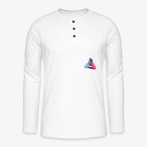 Just scheiss drauf - Henley Langarmshirt