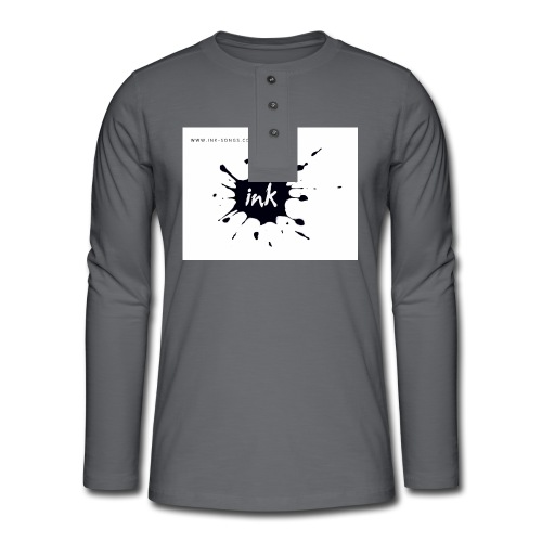 Ink Logo and website - Henley long-sleeved shirt