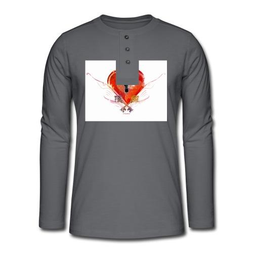 stvalentinmotif2 - T-shirt manches longues Henley
