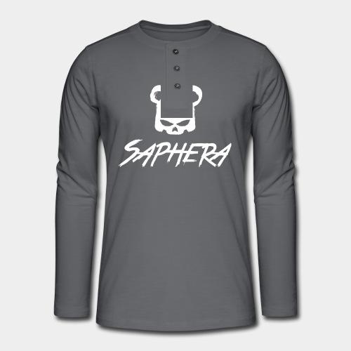 SAPHERA LOGO WHITE TRANS - Henley shirt met lange mouwen