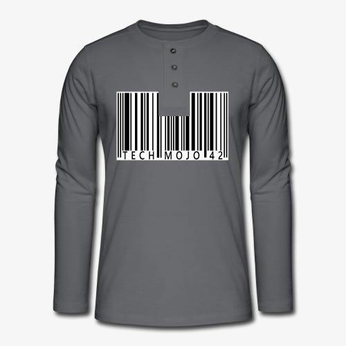 TM graphic Barcode Answer to the universe - Henley long-sleeved shirt