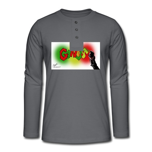 Ganja - Henley T-shirt med lange ærmer