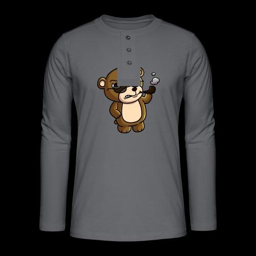 AngryTeddy - Henley long-sleeved shirt