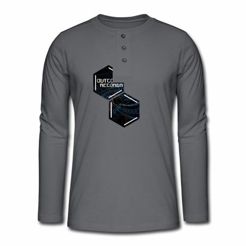 Outcode 0 - Camiseta panadera de manga larga Henley