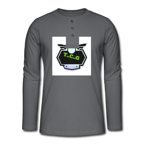 Cool gamer logo - Henley long-sleeved shirt