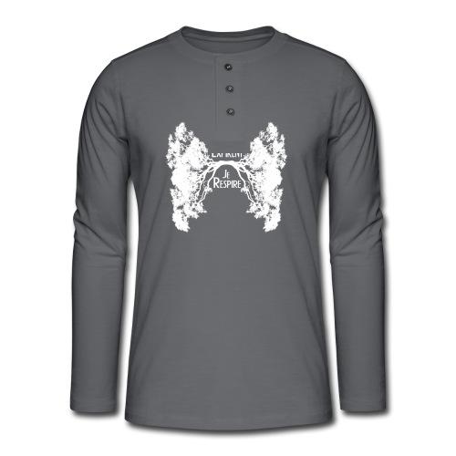 Oxygène blanc - T-shirt manches longues Henley