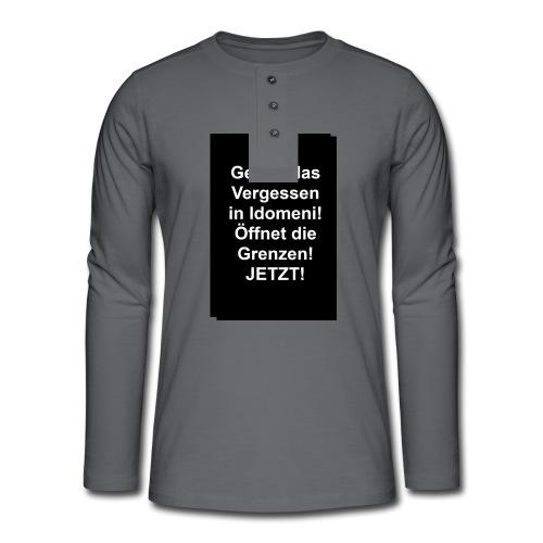 Gegen das Vergessen - Henley Langarmshirt