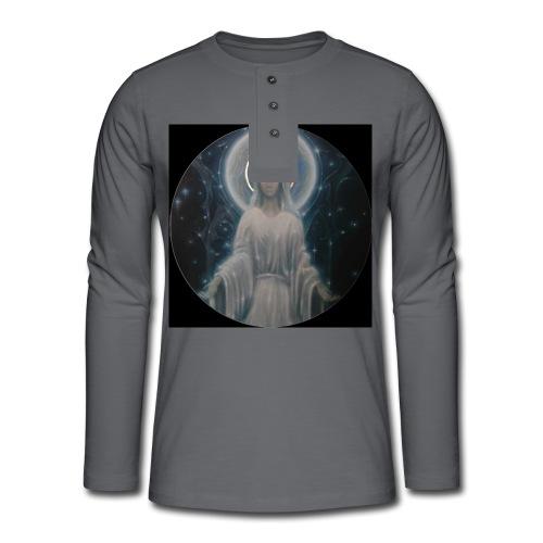 圣母玛利亚 Notre Dame by Jean Libon (Noir) - T-shirt manches longues Henley