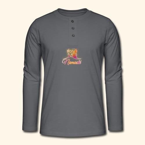 Buddha - Namasté - Henley Langarmshirt