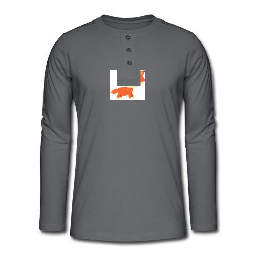 fox_1 - Henley shirt met lange mouwen