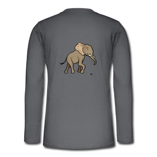 Afrikansk elefant - Henley langermet T-skjorte