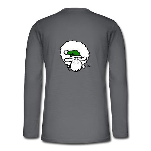 Julenisse (grønn) - Henley langermet T-skjorte