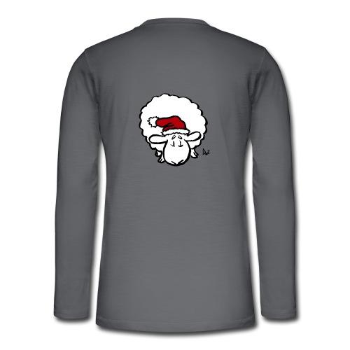 Julenisse (rød) - Henley langermet T-skjorte