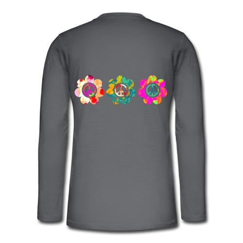Power Flowers Of Peace Trilogy 3 - Henley Langarmshirt